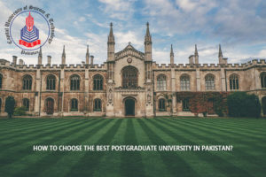 best postgraduate university in Pakistan